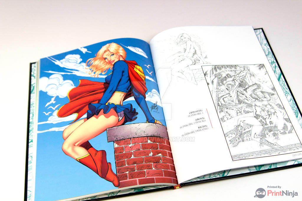Supergirl Sample page from the new Al Rio Tribute by AlRioArt