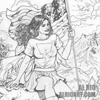 Mary Marvel by Al Rio