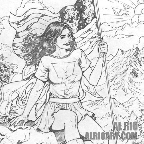 Mary Marvel by Al Rio by AlRioArt