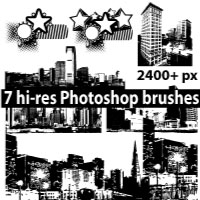 City Silhouette Photoshop brushes by Brushportal