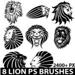 Lions Photoshop brush pack