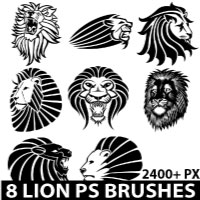 Lions Photoshop brush pack by Brushportal