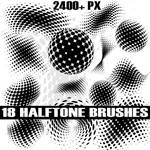 Halftone Photoshop Brush Pack