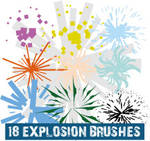 Explosion Scatter Illustrator Brushes
