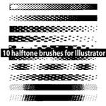 Halftone Illustrator Brushes