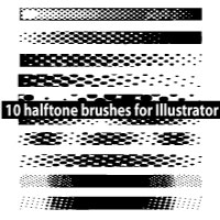 Halftone Illustrator Brushes by Brushportal