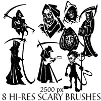 Death And Horror Brushes for Photoshop by Brushportal