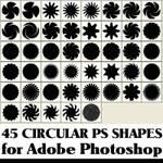 45 circular custom shapes for Photoshop