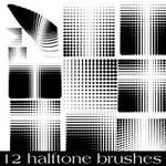 Halftone Photoshop Brush Pack 3