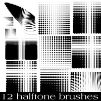 Halftone Photoshop Brush Pack 3 by Brushportal
