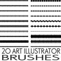 Art Illustrator brushes 4 by Brushportal