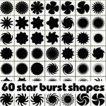 60 free star burst Photoshop shapes