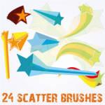 3D Stars Scatter Brushes for Illustrator