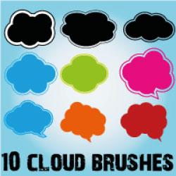 Cloud Scatter Brushes for Illustrator by Brushportal