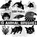 Animals Photoshop brushes set