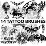 14 high res tattoo brushes for Photoshop