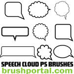 Speech Clouds Photoshop brushes