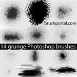 Grunge brushes for Photoshop