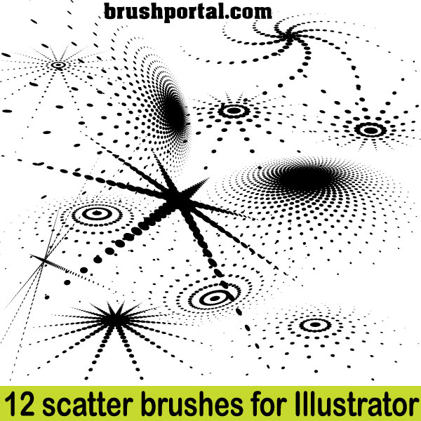 Illustrator Scatter Brushes Free Set By Brushportal On