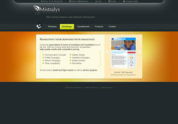 Mistralys Company Website by AeonOfTime