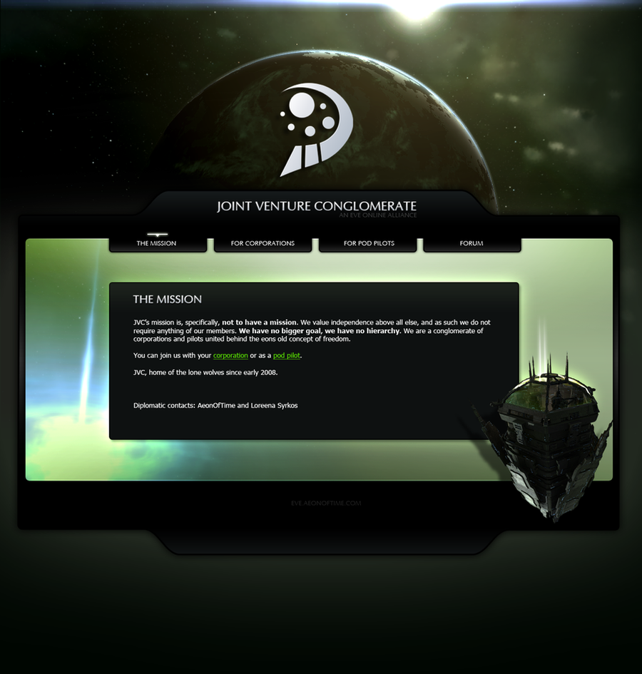 EVE Online: JVC Alliance by AeonOfTime