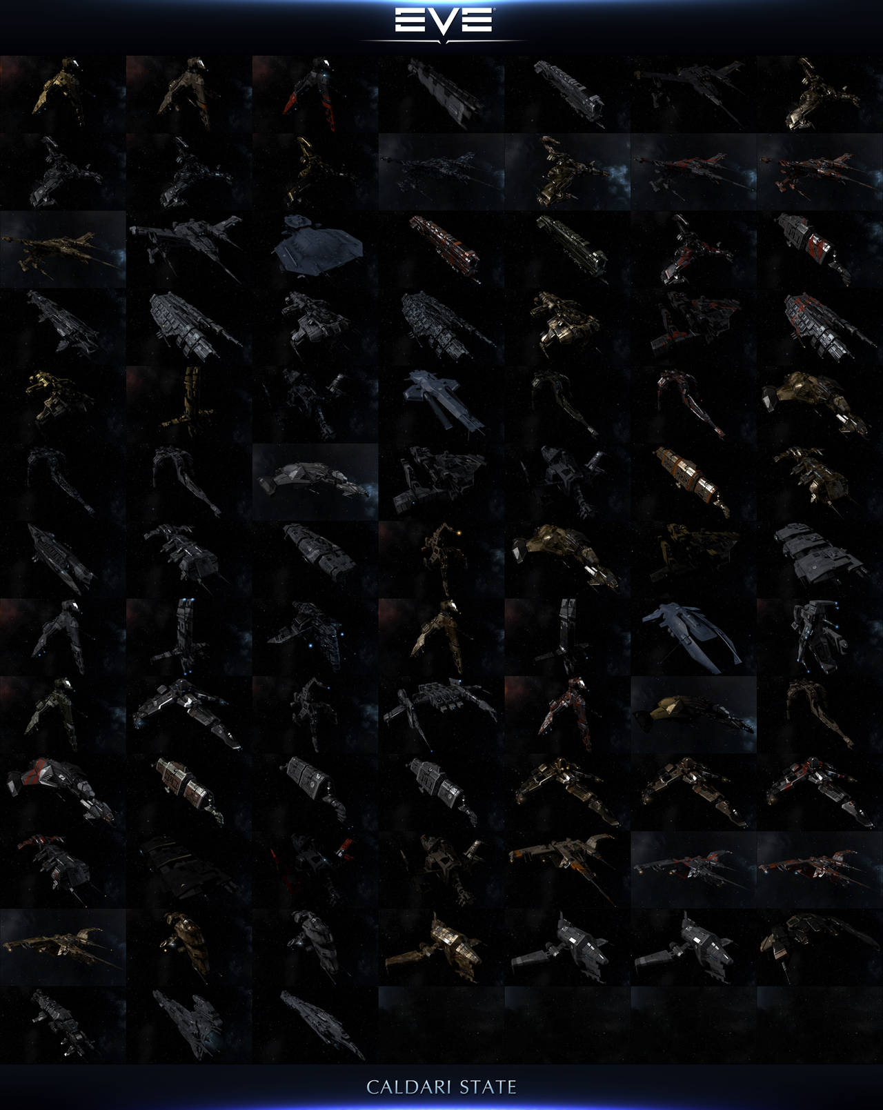 The Ships Of EVE Online 2014: Caldari State by AeonOfTime