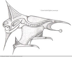Gaian hybrid fighter prototype
