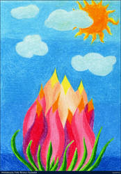 Myaragol fire petals flower by AeonOfTime