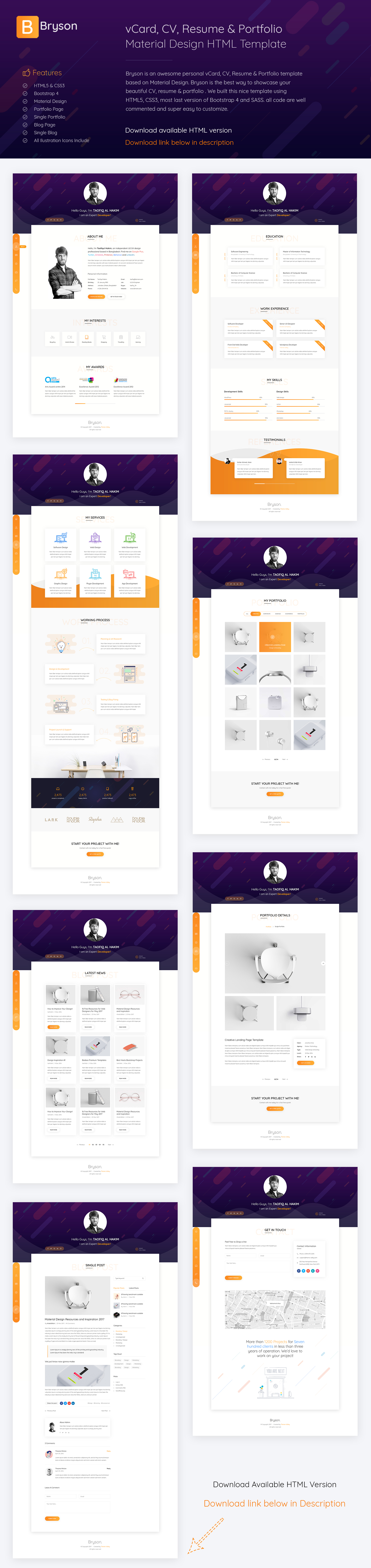 cv resume portfolio template by arahimdesign