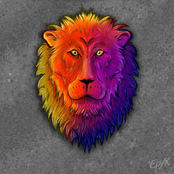Lion Multicolor by TRSEpyx