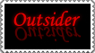 Outsider stamp by alajna