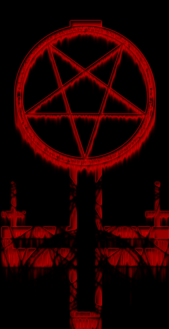 Satanic Cross by FurryWolf