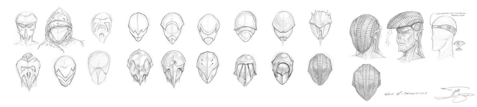 Sith Masks and Helmets Phases I thru V by mavartworx