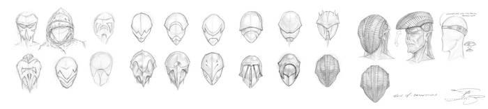 Sith Masks and Helmets Phases I thru V