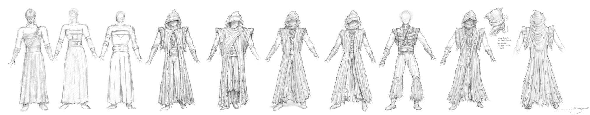 Sith Costume Phases I thru V by mavartworx