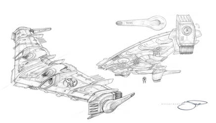 Sarcomtech Flying Wing Mecha Drop Ship I