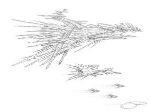 Golipidian Alien Battleship