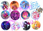 Buttons for Bronycon2013