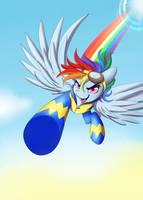 Rainbow Dash Bronycon Card by skyfries
