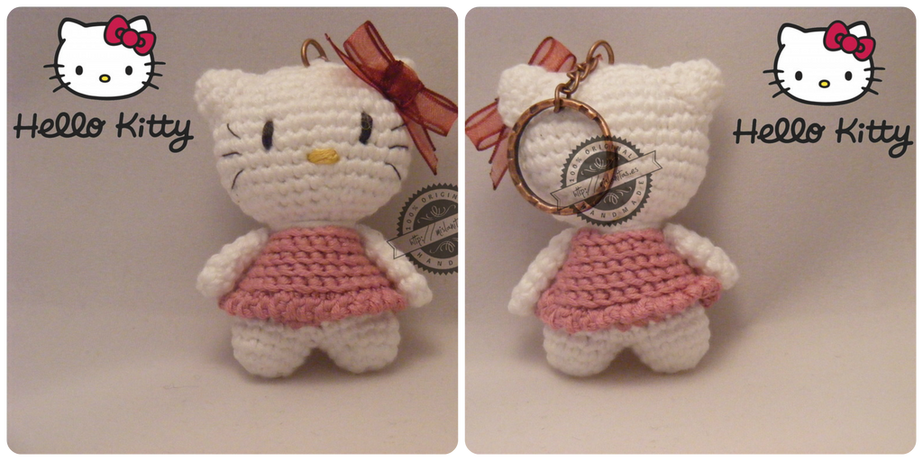 Amigurumi hello kitty keychain by elveawen on DeviantArt