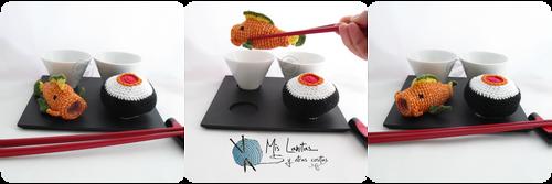 Sushi Crochet Tutorial - Amigurumi Food - YouTube | 167x500