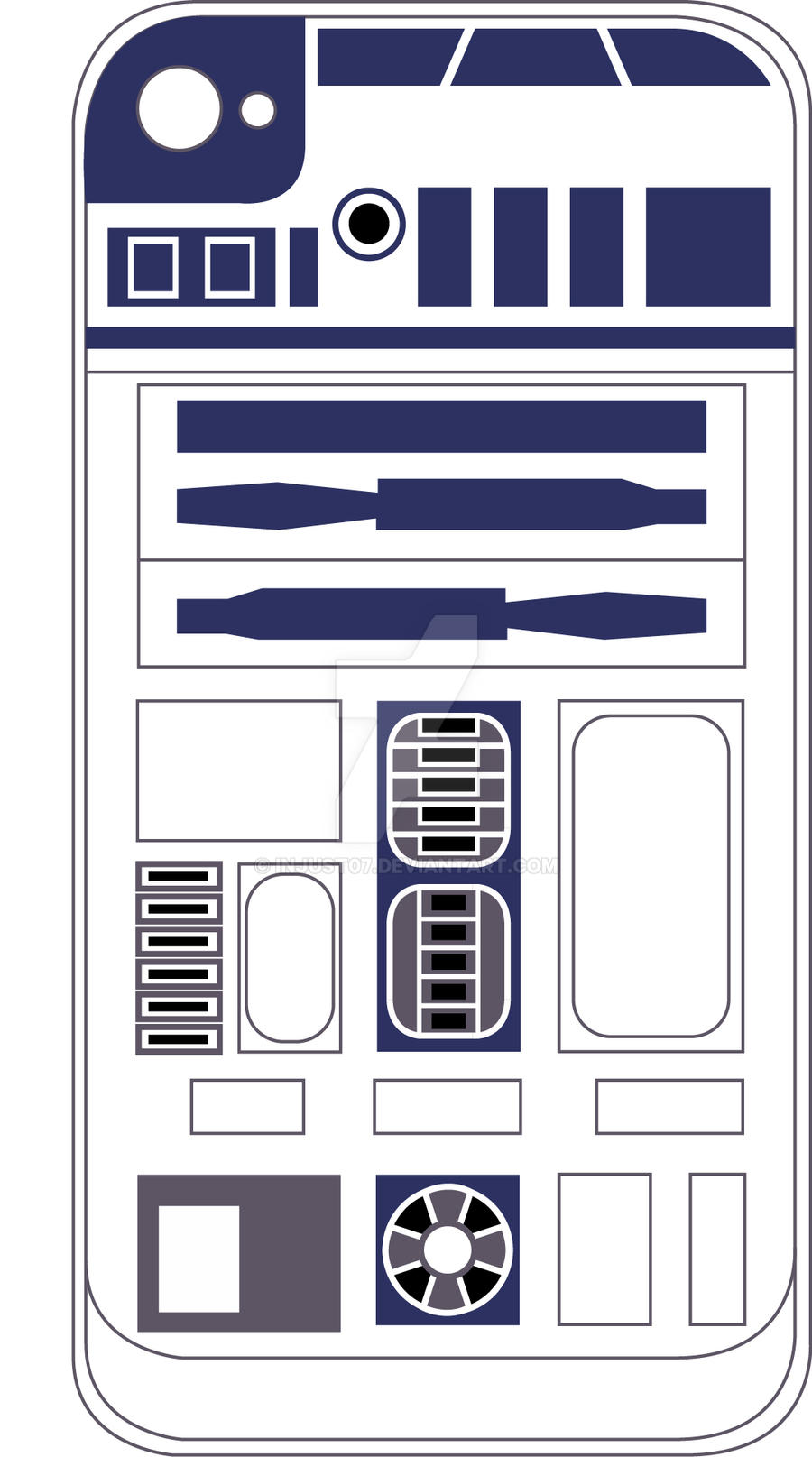 R2d2 Iphone 4 Skin By Injust07 On Deviantart