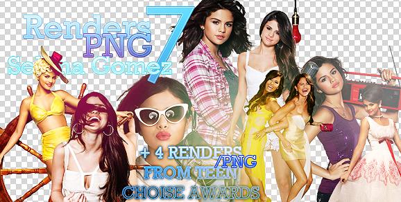 11 RendersPNG Selena Gomez by benlovesyou