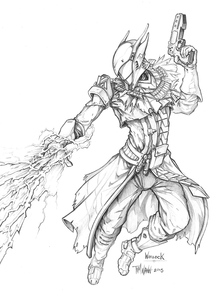 destiny characters hunter coloring pages - photo#27