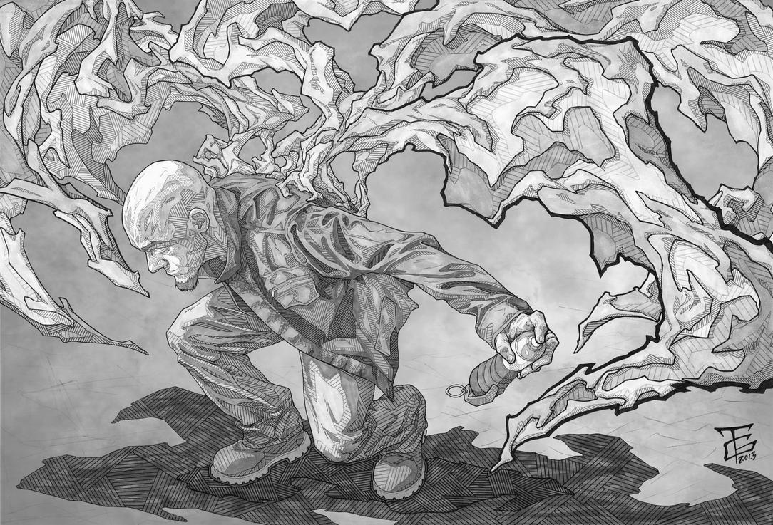 Fight or Flight, greyscale by Ant1-Her0-Project