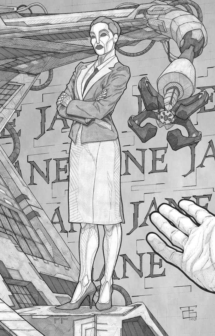 Plain Jane, greyscale by Ant1-Her0-Project