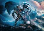 You're no God! Predator v Engineer v Neomorph by KNIGHTPREDATOR