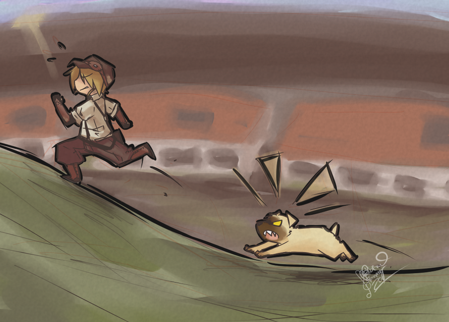 Running up The Hill Like a Boy by ClefdeSoll