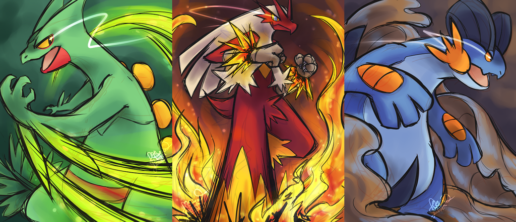 Hoenn Starters by ClefdeSoll on DeviantArt