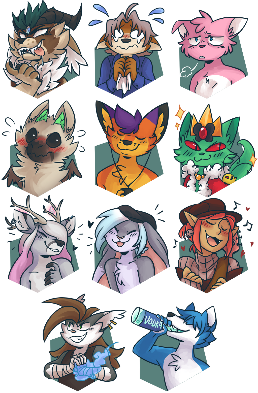 May 2017 Character Portraits by ClefdeSoll